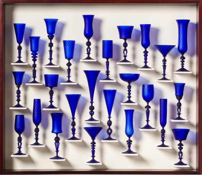 Satin Blue Goblet Study 1502