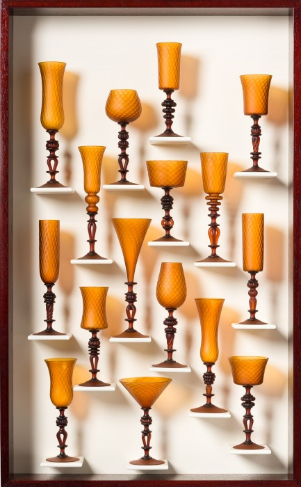 Satin Gold Goblet Study 1501