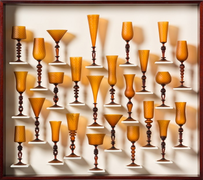 Satin Gold Goblet Study 1503