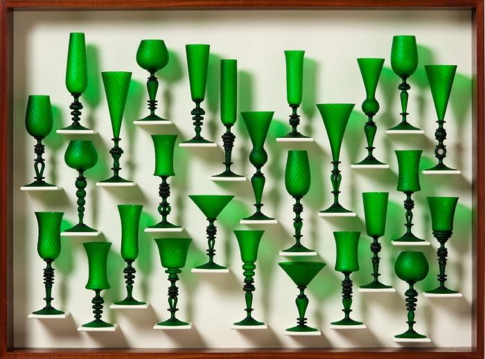 Satin Green Goblet Study 1401