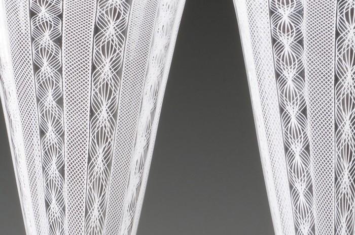 White Bridal Goblets Detail