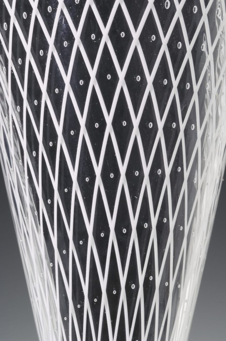 White Reticello Bridal Goblet Detail